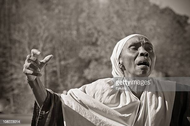 Slave Woman Prays Passionately