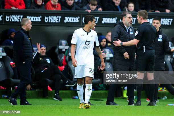 Slaven Bili Manager of West Bromwich Albion in action during the Sky Bet Championship match between Swansea City and West Bromwich Albion at the...