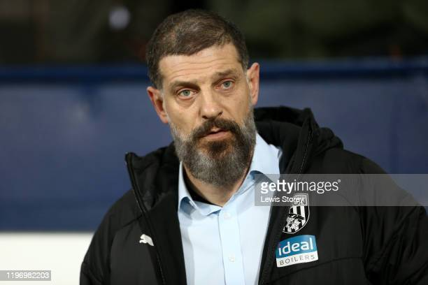 Slaven Bilić, manager of West Bromwich Albion looks on prior to the Sky Bet Championship match between West Bromwich Albion and Leeds United at The...