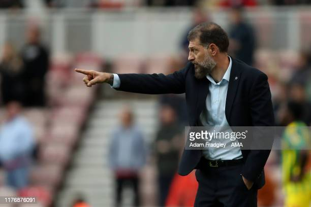 Slaven Bilic head coach / manager of West Bromwich Albion during the Sky Bet Championship match between Middlesbrough and West Bromwich Albion at...
