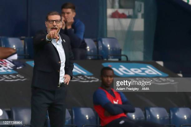 Slaven Bilic head coach / manager of West Bromwich Albion during the Sky Bet Championship match between West Bromwich Albion and Queens Park Rangers...