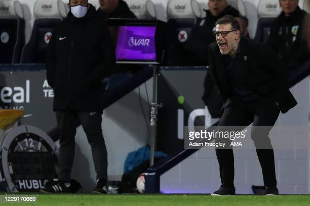Slaven Bilic head coach / manager of West Bromwich Albion during the Premier League match between West Bromwich Albion and Burnley at The Hawthorns...