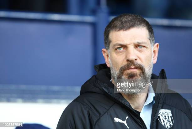 Slaven Bilic, Manager of West Bromwich Albion during the Sky Bet Championship match between West Bromwich Albion and Luton Town at The Hawthorns on...