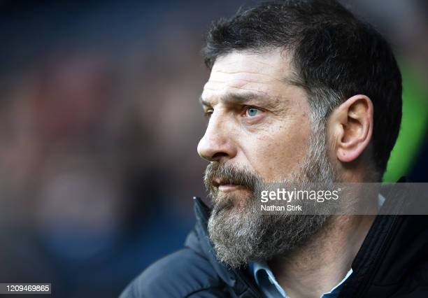 Slaven Bilic, Manager of West Bromwich Albion during the Sky Bet Championship match between West Bromwich Albion and Wigan Athletic at The Hawthorns...