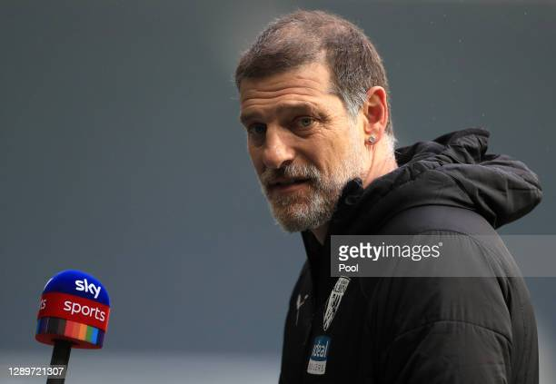 Slaven Bilic, Manager of West Bromwich Albion is interviewed after the Premier League match between West Bromwich Albion and Crystal Palace at The...