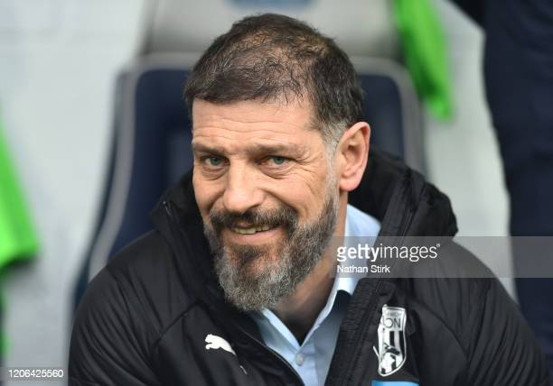 Slaven Bilic, Manager of West Bromwich Albion looks on before the Sky Bet Championship match between West Bromwich Albion and Nottingham Forest at...