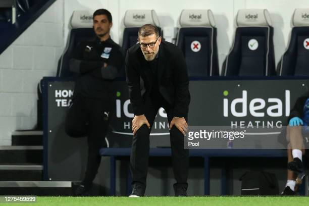 Slaven Bilic Manager of West Bromwich Albion looks on during the Carabao Cup Third Round match between West Bromwich Albion and Brentford FC at The...