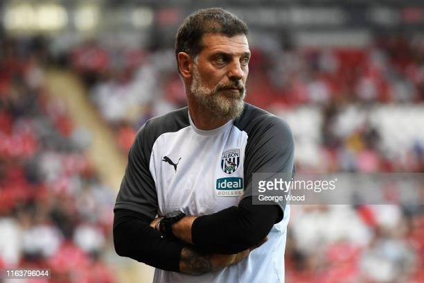 Slaven Bilic manager of West Bromwich Albion looks on during the Pre-Season Friendly between Rotherham United and West Bromwich Albion at AESSEAL New...