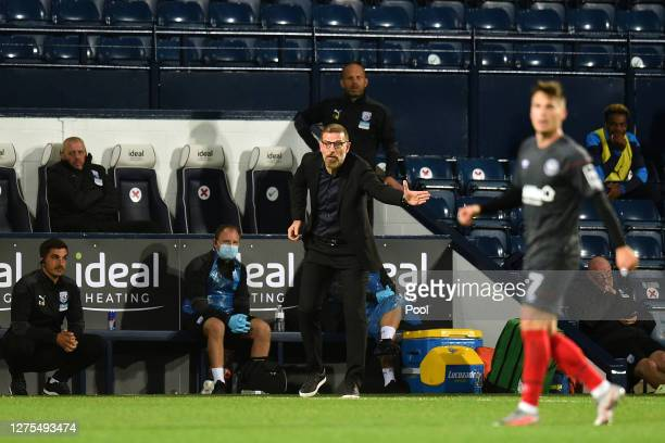 Slaven Bilic Manager of West Bromwich Albion reacts during the Carabao Cup Third Round match between West Bromwich Albion and Brentford FC at The...