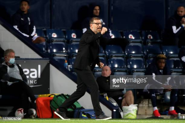 Slaven Bilic Manager of West Bromwich Albion reacts during the Premier League match between West Bromwich Albion and Chelsea at The Hawthorns on...
