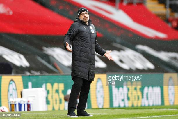 Slaven Bilic Manager of West Bromwich Albion reacts during the Premier League match between Southampton and West Bromwich Albion at St Mary's Stadium...