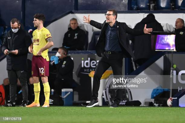 Slaven Bilic Manager of West Bromwich Albion reacts during the Premier League match between West Bromwich Albion and Burnley at The Hawthorns on...