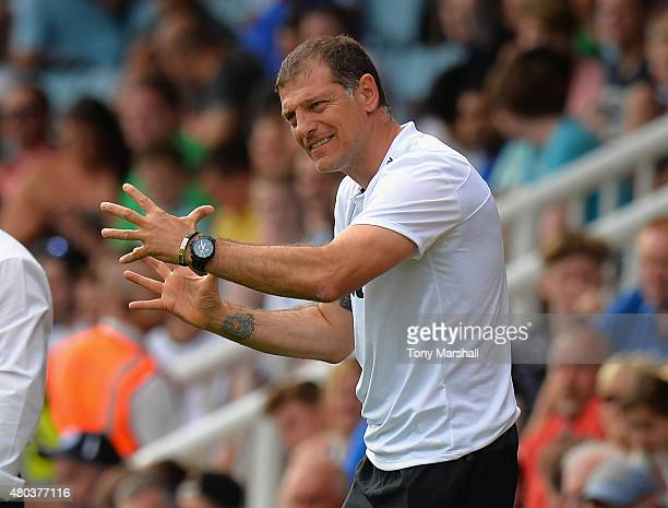 Slaven Bilic Manager of West Ham United during the Pre Season Friendly match between Peterborough United and West Ham United at London Road Stadium...