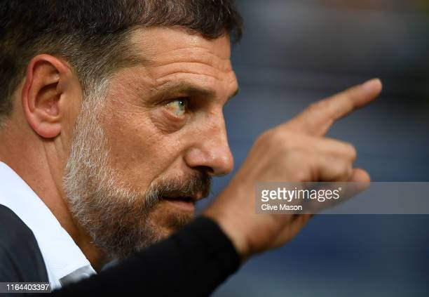 Slaven Bilic of West Bromwich Albion looks on prior to the Pre-Season Friendly match between West Bromwich Albion and Bournemouth at The Hawthorns on...