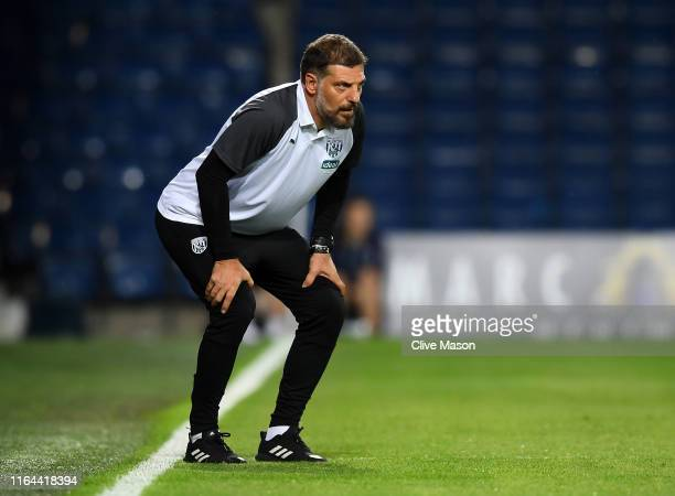 Slaven Bilic of West Bromwich Albion reacts during the Pre-Season Friendly match between West Bromwich Albion and Bournemouth at The Hawthorns on...