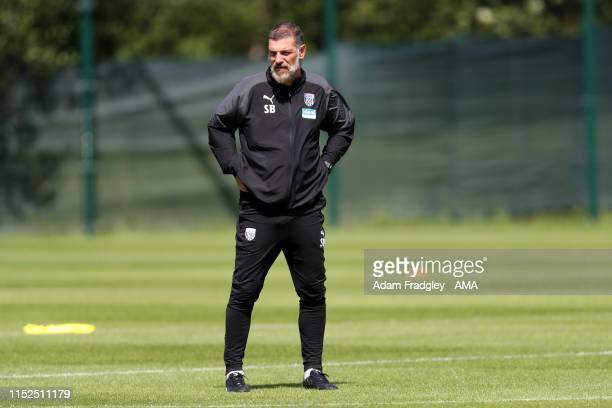Slaven Bilic the head coach / manager of West Bromwich Albion during his first training session at West Bromwich Albion training session on June 28,...