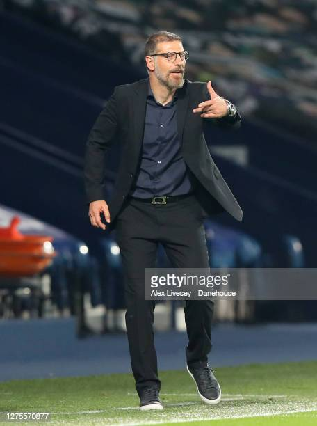 Slaven Bilic the manager of West Bromwich Albion looks on during the Carabao Cup third round match between West Bromwich Albion and Brentford at The...