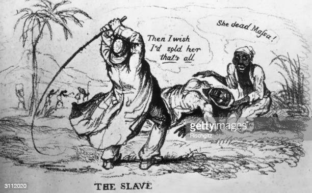 A slaveowner whipping a slave to death