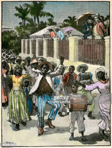 Slavery emancipation festival in Barbados c1880