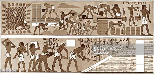 Slaves at the temple of Amon Thebes Egypt Caption reads captives making bricks for the Temple of Ammon at Thebes Egypt Herodotus was the first...