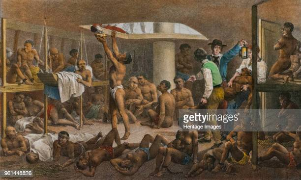 Slaves in the cellar of a slave boat c 1830 Found in the Collection of Instituto Itau Cultural