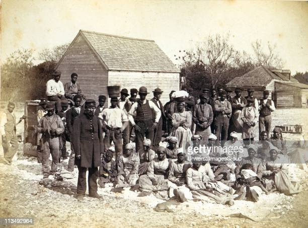 Slaves of Thomas F Drayton of Magnolia Plantation Hilton Head South Carolina 1862 During the American Civil War Drayton a Southern plantation owner...