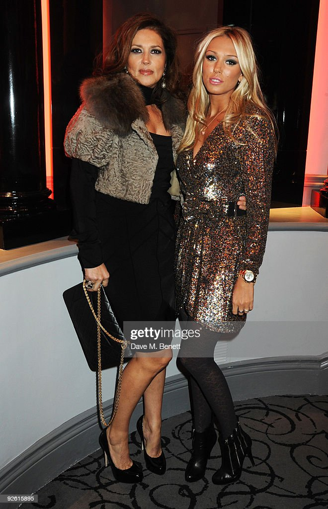 Slavica and Petra Ecclestone attend the opening party of The Red Room, on November 2, 2009 in London, England.