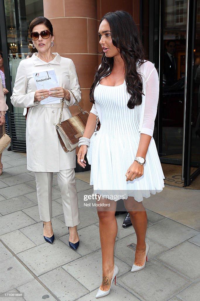 Slavica Ecclestone and Tamara Ecclestone seen at C restaurant after celebrating Petra's baby's christening on June 21, 2013 in London, England.