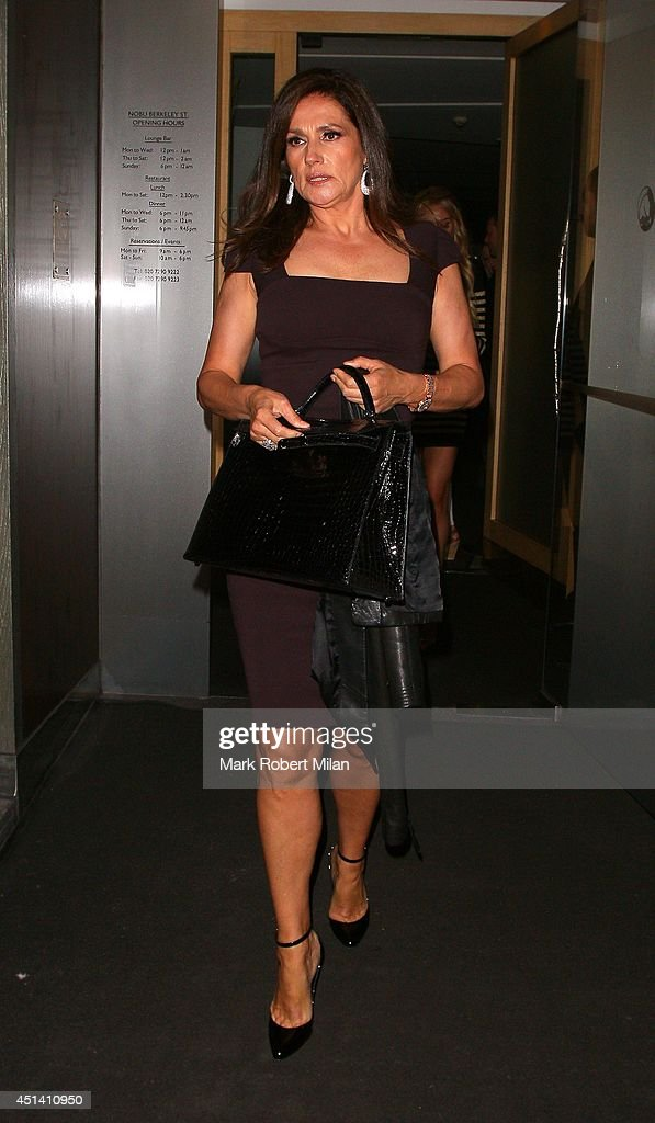 Slavica Ecclestone at Nobu Berkeley to celebrate Tamara Ecclestone's birthday on June 28, 2014 in London, England.
