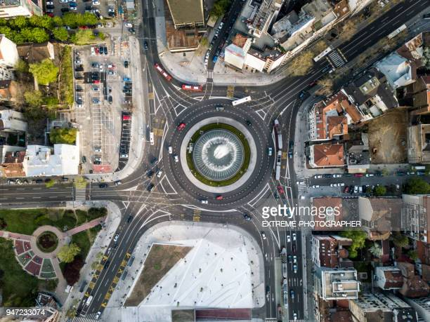 slavija roundabout - serbia stock pictures, royalty-free photos & images