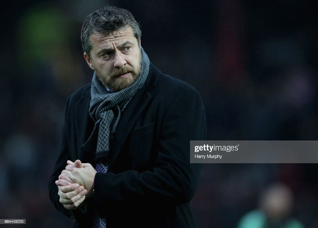 Slavisa Jokanovic, Head Coach of Fulham looks on prior to the Sky Bet Championship match between Brentford and Fulham at Griffin Park on December 2, 2017 in Brentford, England.