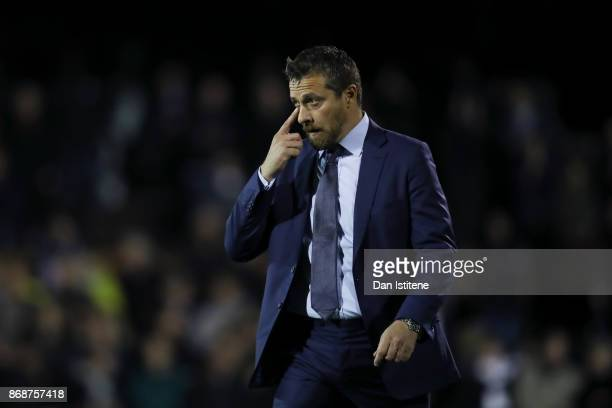 Slavisa Jokanovic manager of FulhaFulham looks on before the Sky Bet Championship match between Fulham and Bristol City at Craven Cottage on October...