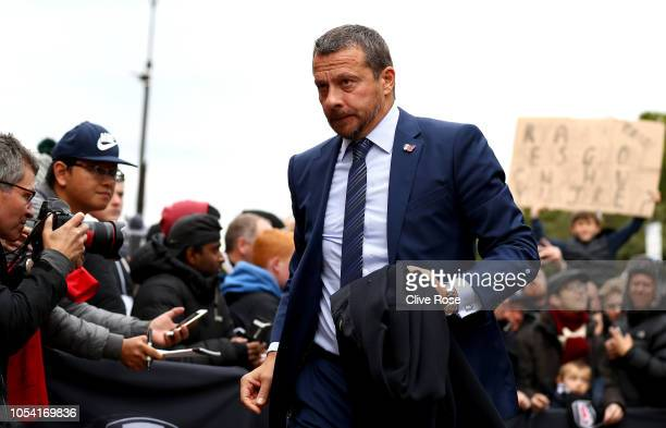 Slavisa Jokanovic Manager of Fulham arrives at the stadium prior to the Premier League match between Fulham FC and AFC Bournemouth at Craven Cottage...