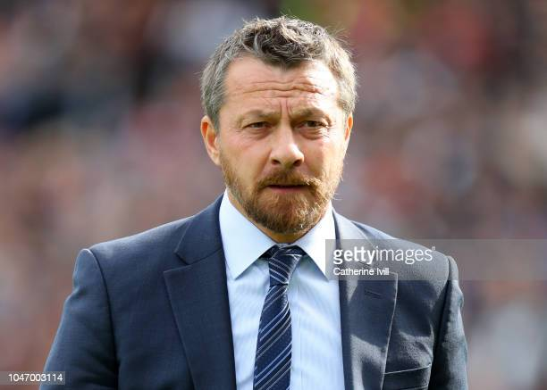 Slavisa Jokanovic Manager of Fulham looks on ahead of the Premier League match between Fulham FC and Arsenal FC at Craven Cottage on October 7 2018...
