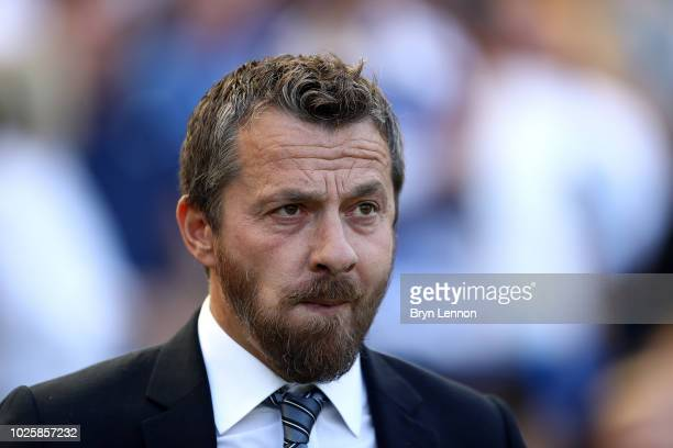 Slavisa Jokanovic Manager of Fulham looks on prior to the Premier League match between Brighton Hove Albion and Fulham FC at American Express...