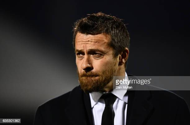 Slavisa Jokanovic Manager of Fulham looks on prior to the Sky Bet Championship match between Fulham and Nottingham Forest at Craven Cottage on...