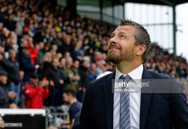 Slavisa Jokanovic of Fulham during the Premier League match between Fulham FC and Burnley FC at Craven Cottage on August 26 2018 in London United...
