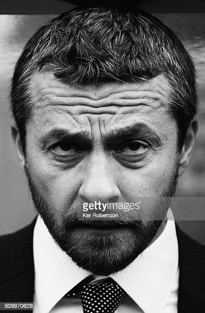 Slavisa Jokanovic the Fulham Head Coach looks on before the Sky Bet Championship match between Queens Park Rangers and Fulham at Loftus Road on...