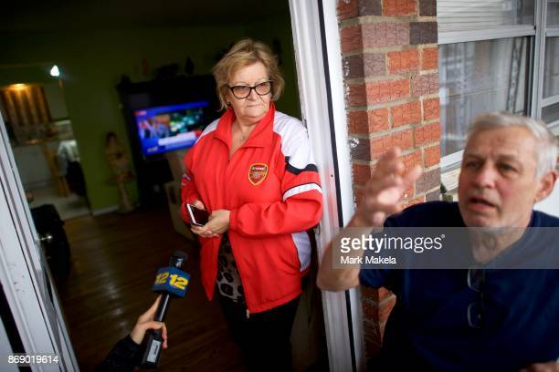 Slavo Petrov talks to the media about his neighbor Sayfullo Saipov the suspect who drove a pickup truck on a bike path in lower Manhattan killing 8...