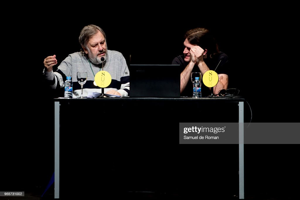 Slavoj Zizek Receives Golden Medal at Circulo de Bellas Artes in Madrid : News Photo