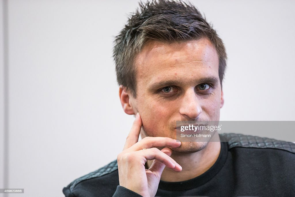 Slawomir Peszko of 1. FC Koeln looks on prior to the decision of DFB Court on the objection to the length of a 3 match ban in the DFB Cup which was given after Peszko was shown a red card for violent conduct at DFB Headquarter on December 2, 2014 in Frankfurt am Main, Germany.