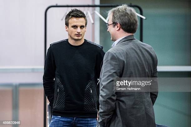 Slawomir Peszko of 1 FC Koeln looks on prior to the decision of DFB Court on the objection to the length of a 3 match ban in the DFB Cup which was...
