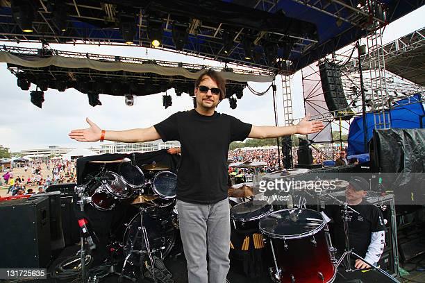 Slayer drummer Dave Lombardo backstage on day three of Fun Fun Fun Fest at Auditorium Shores on November 6 2011 in Austin Texas