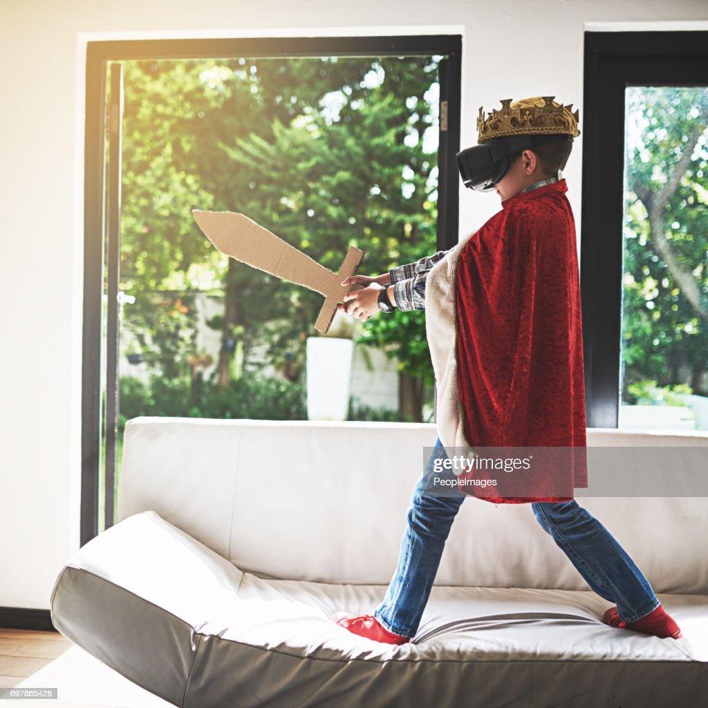 Matando dragões virtuais : Foto de stock
