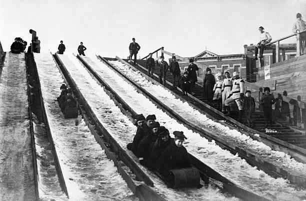 Sled Slide at Winter Carnival