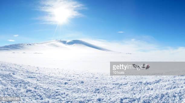Schlitten-Reisen im winter