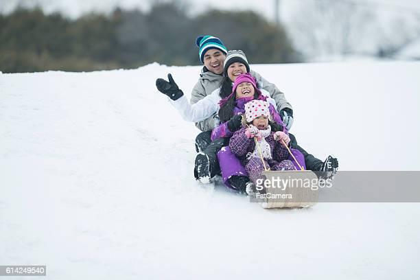 Sledding on a Snow Day
