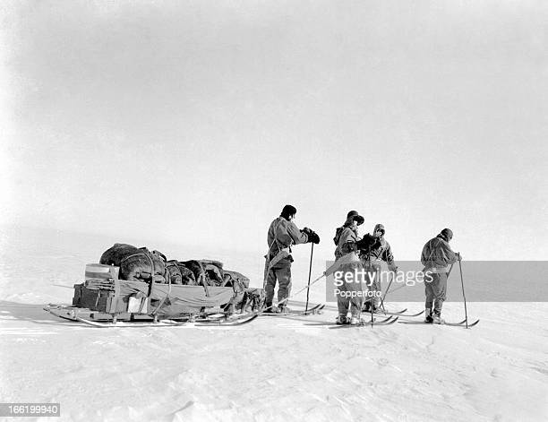 Sledging on the polar march taken during the last tragic voyage to Antarctica by Captain Robert Falcon Scott and his crew among them Lieutenant Henry...