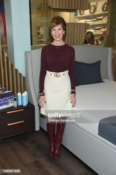 Sleep Number President CEO Shelby Ibach attends as Debra Messing and Pajama Program celebrate Giving Tuesday at the Sleep Number Store on November 27...