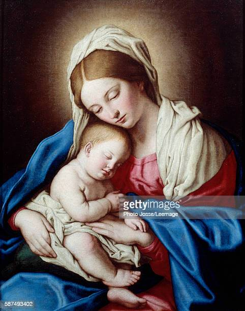Sleep of the Child Jesus Painting by Giovanni Battista Salvi called Il Sassoferrato Italian School 17th century Oil on canvas 070 x 085 m BeauxArts...